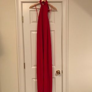 Zara Red backless jumpsuit